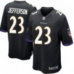 Men's NFL Baltimore Ravens #23 Tony Jefferson Nike Black Stitched Game Jerseys