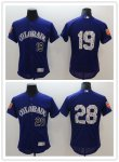 Baseball Colorado Rockies #19 Charlie Blackmon #28 Nolan Arenado Purple 2018 Spring Training Cool Base Jersey And Flex Base Jersey