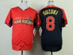 mlb minnesota twins #8 suzuki red-blue [2014 all star jerseys]
