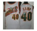 nba seattle supersonics #40 kemp white [revolution 30 throwback]