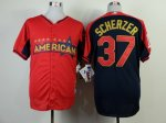 mlb detroit tigers #37 scherzer red-blue [2014 all star jerseys]