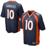 Men's NFL Denver Broncos #10 Emmanuel Sanders Nike Navy Blue Game Jersey