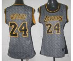 women nba los angeles lakers #24 kobe bryant grey [static fashio