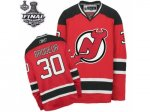 nhl new jersey devils #30 brodeur red and black [2012 stanley cu