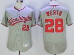 mlb washington nationals #28 jayson werth majestic grey flexbase authentic collection player jerseys