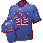 nike nfl buffalo bills #22 fred jackson blue [elite drift fashio