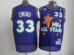 nba 95 all star #33 ewing purple jerseys