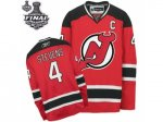nhl new jersey devils #4 stevens red and black [2012 stanley cup