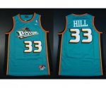 nike nba detroit pistons #33 hill green jerseys [nike m&n]