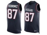 Men's Nike Houston Texans #87 C.J. Fiedorowicz Navy Blue Team Color Stitched NFL Limited Tank Top Jersey