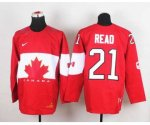 nhl team canada #21 read red [2014 world championship][read]