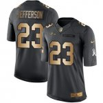 Men's NFL Baltimore Ravens #23 Tony Jefferson Black Stitched Limited Gold Salute To Service Jersey