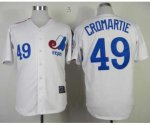 mlb montreal expos #49 cromartie m&n white jerseys