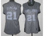 women nba san antonio spurs #21 tim duncan grey [static fashion