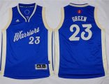 youth nba golden state warriors #23 draymond green blue 2015-2016 christmas day stitched jerseys
