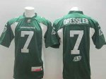 cfl Saskatchewan Roughriders #7 dressler green jerseys