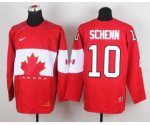 nhl team canada #10 schenn red [2014 world championship][schenn]