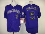 mlb colorado rockies #5 gonzalez purple jerseys