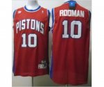nba detroit pistons #10 rodman red jerseys [swingman]