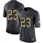 Men's NFL Baltimore Ravens #23 Tony Jefferson Black Stitched Limited 2016 Salute to Service Jersey