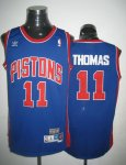 nba detroit pistons #11 thomas blue cheap jerseys [swingman]