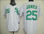 Baseball Jerseys chicago white sox #25 jones white(green strip)