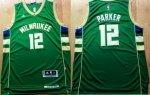 NBA Jersey Milwaukee Bucks #12 Parker Green Stitched Revolution