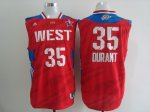 2013 all star oklahoma city thunder #35 kevin durant red jerseys