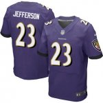 Men's NFL Baltimore Ravens #23 Tony Jefferson Nike Purple Stitched Elite Jerseys