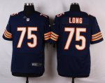 nike chicago bears #75 long blue elite jerseys