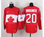 nhl team canada #20 brouwer red [2014 world championship][brouwe