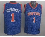 nba new york knicks #1 stoudemire blue leopard print [2014 new]