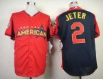 mlb new york yankees #2 jeter red-blue [2014 all star jerseys]