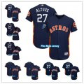 Baseball Houston Astros All Players Option #1 Carlos Correa #27 Jose Altuve Navy 2018 Spring Training Flex Base Jersey and Cool Base Jersey