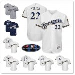 Baseball Milwaukee Brewers Stitched Flex Base Jersey and Cool Base Jersey