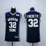 ncaa brigham young #32 fredette black jerseys
