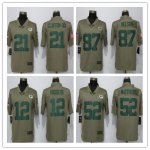 Football Green Bay Packers Olive Salute To Service Limited Jersey