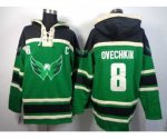 nhl washington capitals #8 alex ovechkin green [pullover hooded
