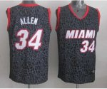 nba miami heat #34 allen black leopard print [2014 new]