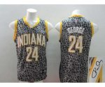 nba indlana pacers #24 george black leopard print [signature]