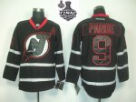 nhl new jersey devils #9 parise black [2012 stanley cup]