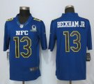 Men NFL New York Giants #13 Odell Beckham Jr Nike Navy 2017 Pro Bowl Limited Jerseys