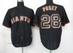 mlb jerseys san francisco giants #28 posey black fashion