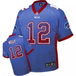 nike nfl buffalo bills #12 jim kelly blue [elite drift fashion]