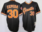 mlb san francisco giants #30 cepeda m&n black[orange number] TOP