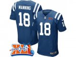 nike indianapolis colts #18 peyton manning royal blue team color super bowl xli elite jerseys