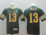 cfl edmonton eskimos #13 reilly green jerseys