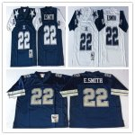Football Men's Dallas Cowboys #22 E.SMITH Mitchell & Ness Retired Player Throwback Jersey
