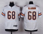 nike chicago bears #68 slauson white elite jerseys