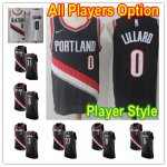 Basketball Portland Trail Blazers All Players Option Authentic Jersey Player Style